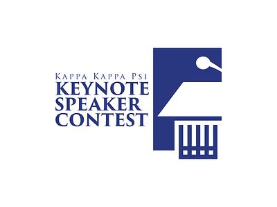 Kappa Kappa Psi Keynote Speaker music band fraternity kkpsi contest speaker design vector illustration branding logo