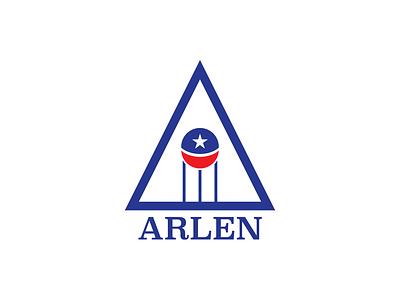 Arlen, Texas watertower city texas vector illustration branding logo