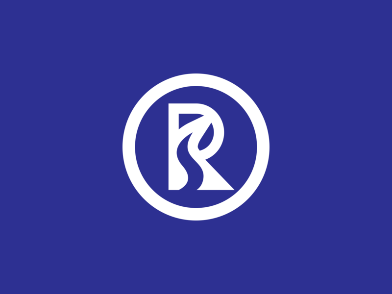 Riverdale city river riverdale letter vector illustration branding logo