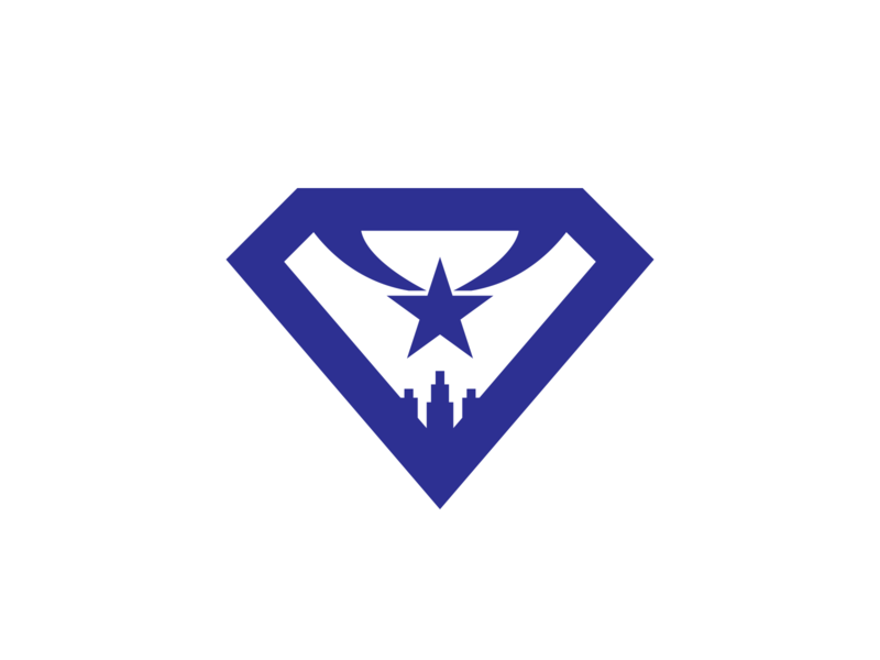 National City star city branding shield tv superhero supergirl city vector illustration branding logo
