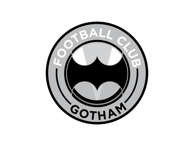 F.C. Gotham dc comics batman gotham franchise football club football soccer vector illustration branding logo