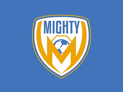 The Mighty Metropolis dc comics metropolis superman soccer badge soccer ball football soccer sports vector illustration branding logo