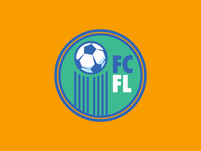 Fiction City Football League (FCFL) soccer badge soccer logo soccer ball football vector sports illustration branding logo