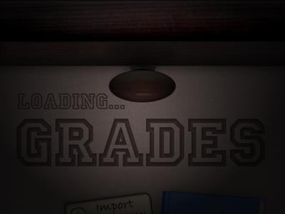 Grades 2 - loading... iphone ios app ui wood drawer loading lighting