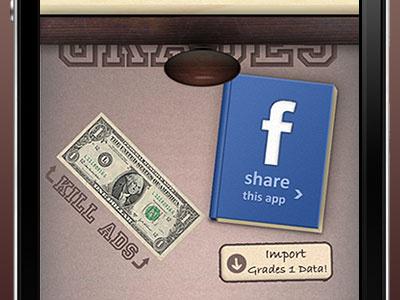 Grades 2 - Beneath the Drawer iphone ios app drawer wood facebook brown