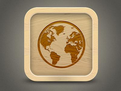 Languages Icon Experiment #2 icon wood languages app globe