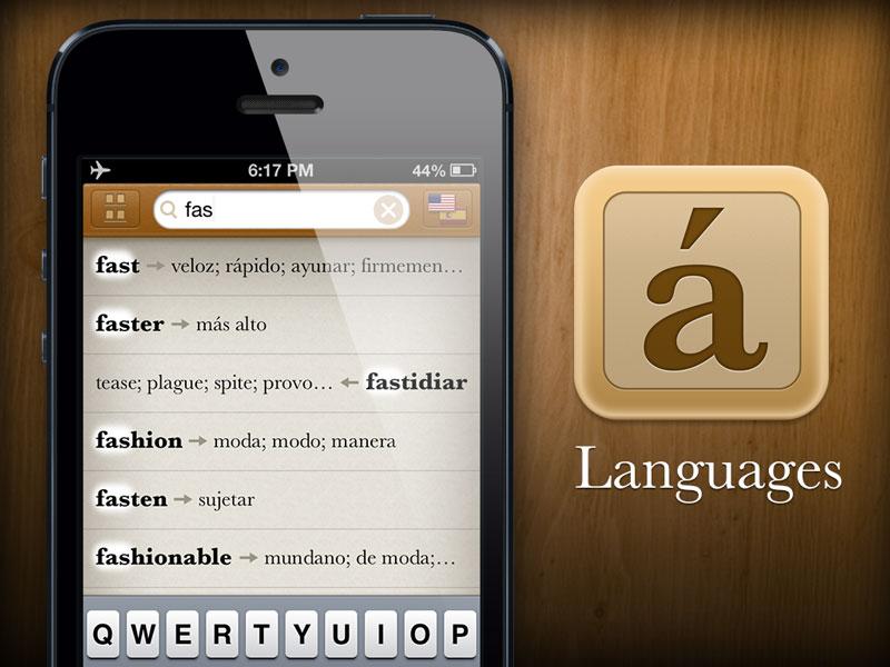 One Week languages wood promo ui app iphone ios search