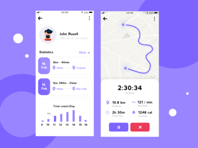 Running App design