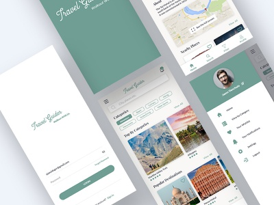 Travel Guide app travel agency designer uiux ui design traveling travel guide travel app travel