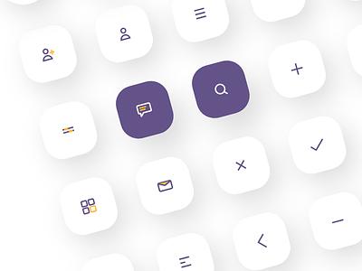 Icon Set purple mobile ui illustration icon set icons icon design icon design branding 2020 iconography
