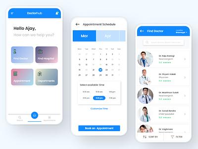Doctor-hub - Medical consultancy UI medical activity design uiux mobile pharmalogy pharma medical app ios