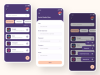 SecPass - Password Manager app iosapp purple onboarding android app design android personal information password app security system security app password password manager