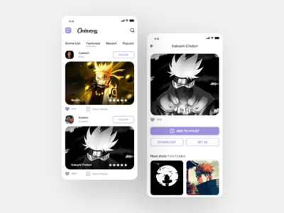 Animepy - Anime Wallpaper App design anime wallpaper app app designer ui ios android uiux