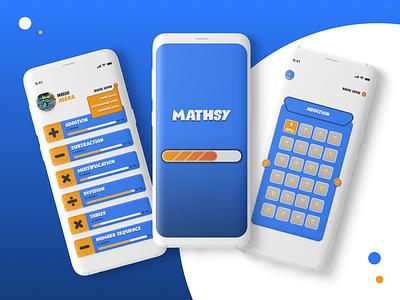 Mathsy-quiz app mobile app calculator ui kids app maths userinterface mobile ios app design android app app designer ui android app design ios android iosapp uiux