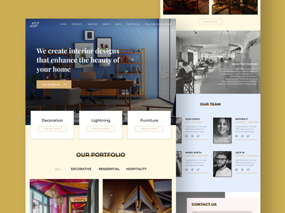 interior website website concept hire me best shot website design dribbble invite dribbble best shot interiordesign