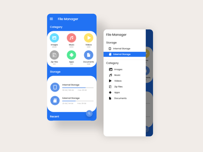 File Manager App UI app ui design android app design android uiux ui adobexd figma app file manager