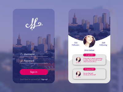 UI mobile app design