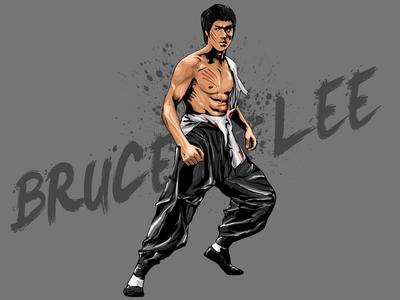 Bruce Lee Vector Illustration