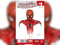 SPIDER-MAN (ink + marker illustration)