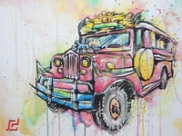 JEEPNEY WATERCOLOR PAINTING