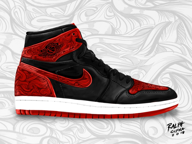 IPAD ART  AIR JORDAN 1 SNEAKER ILLUSTRATION shoes design jordan nike  illustration sneaker art ipad 0e343e1e1637