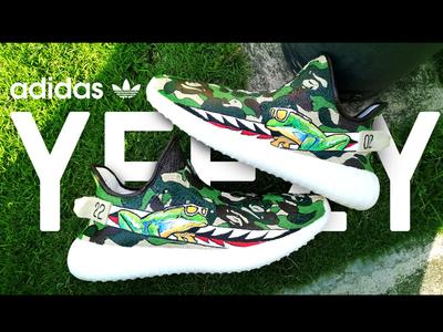 Adidas Yeezy Boost 350 x BAPE x Oakley by Ralph Cifra🔥🦍🔥🐸🔥