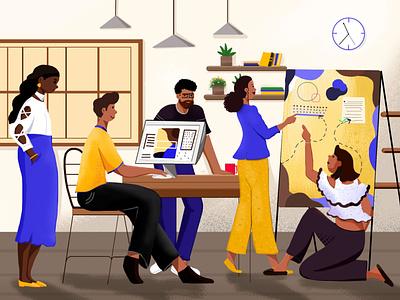 Digital Agency illustration ui abstract anjum shorna illustrations cartoons illustration art illustrator illustraion illustration cartoon illustration best design