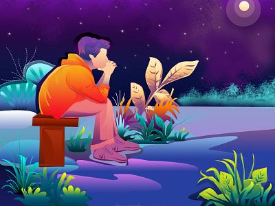 Alone branding illustrations illustration illustrator illustraion illustration art cartooning cartoons cartoon illustration best design