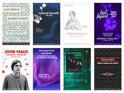 First Avenue & 7th St Entry: Concert Posters