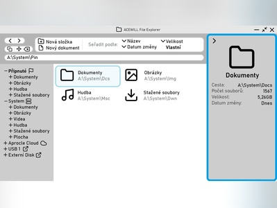 File Explorer Design Idea