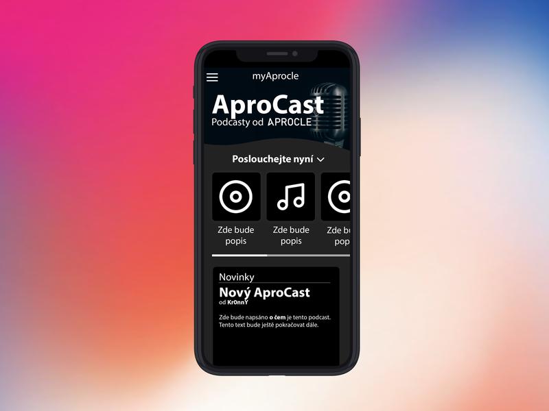 Podcast App Design Idea Mockup iPhone X