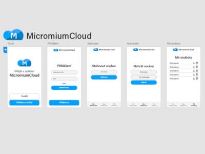Cloud App Design in Adobe XD