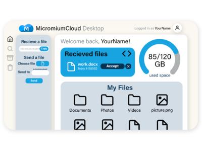 Cloud App UI Design