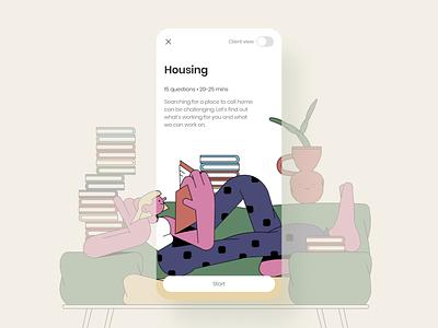 IFSSA x MetaLab design social service mobile ui