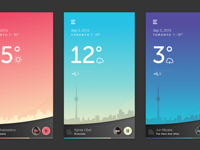 [50 Weekly UI Challenge] Tune in the Weather mobile animation ui