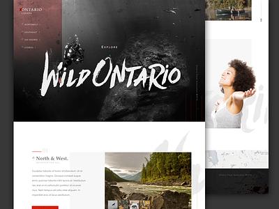 [50 Weekly UI Challenge] Wild Ontario web