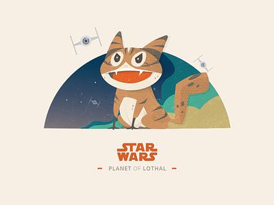 [50 Weekly UI Challenge] Lothal Cat illustration