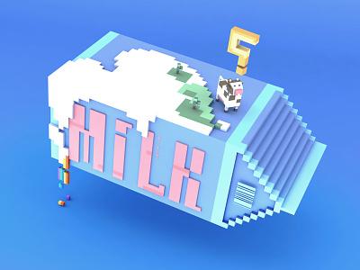 MILK c4d 3d