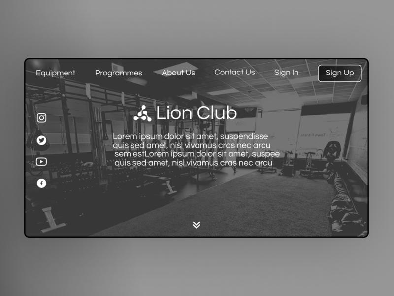 Gym Club Landing page