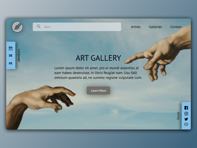 Art Gallery Landing page