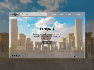 Persepolis Landing Page website design user experience invision adobe xd ancient iran ancient persepolis ux figma ui design user interface landing page web design