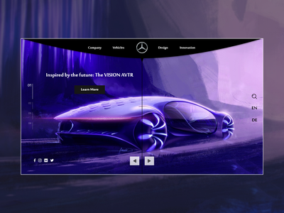 Mercedes-Benz ( VISION AVTR ) cars car mercedes benz mercedes-benz benz design photoshop figma adobe xd user experience ux user interface web design landing page ui