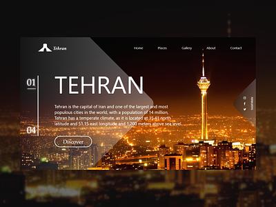 Tehran City iran تجربه کاربری رابط کاربری tehran city photoshop website adobe xd user experience web design design landing page ui