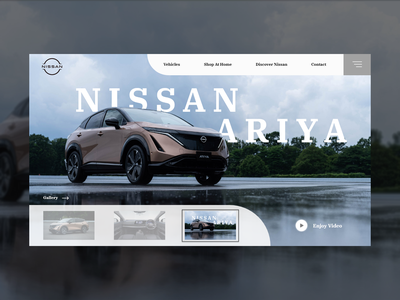 Nissan Ariya Concept landing page design landingpage photoshop تجربه کاربری رابط کاربری nissan ux car adobe xd figma user interface user experience design web design landing page ui