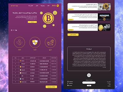 BitEx Exchange ethereum exchange cryptocurrency bitcoin website design landing page design user interface user experience ux web design landing page ui