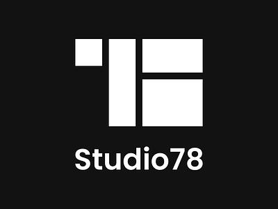 Studio78 logo new block logo black logo brand branding numbers logo 78 logotype logo