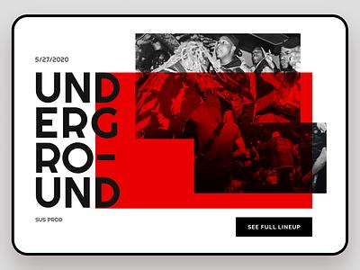 Underground live collage hero live concerts music red underground