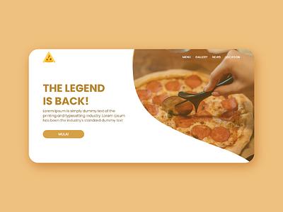 Landing page - Pizza Order Website clean ui clean figma web designer ui ux design uidesign website design website uiux ux ui ui ux adobe illustrator cc ux ui ui design graphic design design