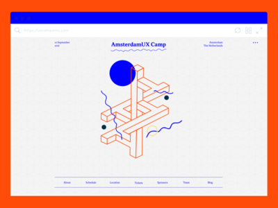 Amsterdam UX Camp –Home Page