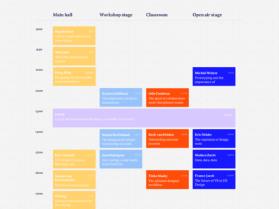 Amsterdam UX Camp - event schedule